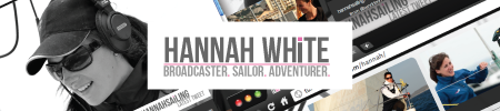 hannah white presenter web design and re brand
